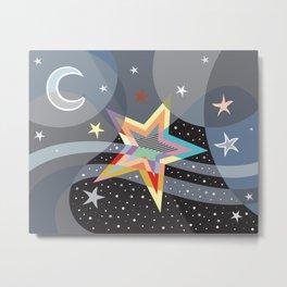 Stars And The Moon Metal Print