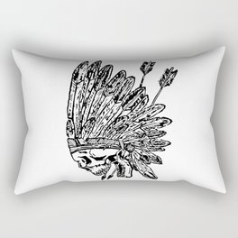 Indian chief skull head Rectangular Pillow