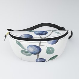 Blackthorn Blue Berries Fanny Pack