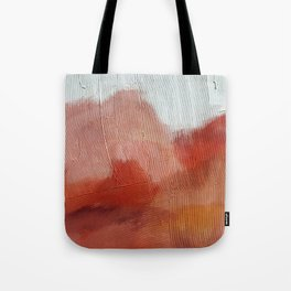 Desert Journey [2]: a textured, abstract piece in pinks, reds, and white by Alyssa Hamilton Art Tote Bag