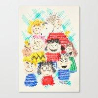 sesame street Canvas Prints featuring Sesame Street by Cloakwork