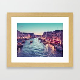 Jewel Toned Venice at Twilight Fine Art Print Framed Art Print