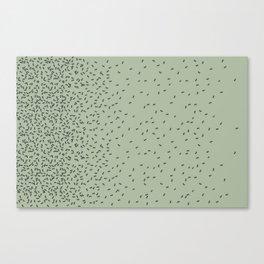 ANTS GREEN (BIG RUG) Canvas Print