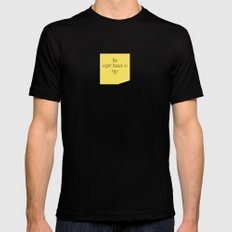 Be right back MEDIUM Black Mens Fitted Tee