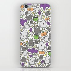 Kawaii Halloween - White iPhone & iPod Skin