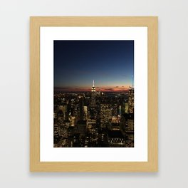 New York Dusk Framed Art Print