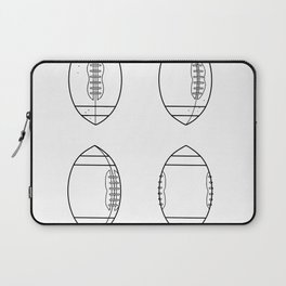 American Football Ball Spinning Sequence Drawing Laptop Sleeve