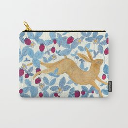Wild Strawberry Hare Carry-All Pouch
