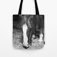 harley Tote Bags featuring Harley by Yanina May Photography
