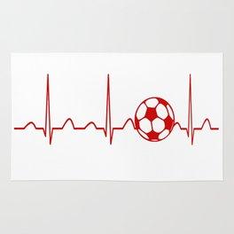 SOCCER HEARTBEAT Rug