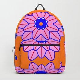 Flower Power Orange Vibes Backpack