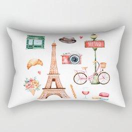 Welcome To Paris Rectangular Pillow