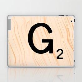 Scrabble Letter G - Scrabble Art and Apparel Laptop & iPad Skin