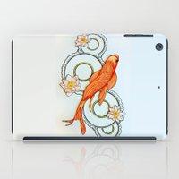 koi fish iPad Cases featuring Koi Fish by Eleni Kakoullis