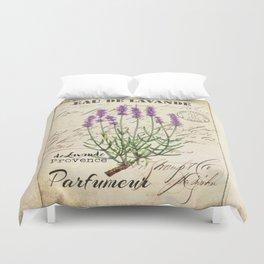 Lavender Antique Rustic Flowers Vintage Art Duvet Cover