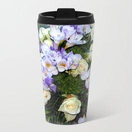 Roses and Freesias Travel Mug