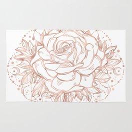 Mandala Lunar Rose Gold Rug