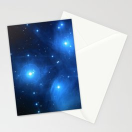 """The Pleiades (""""The Seven Sisters"""") (NASA/ESA/Palomar Observatory) Stationery Cards"""