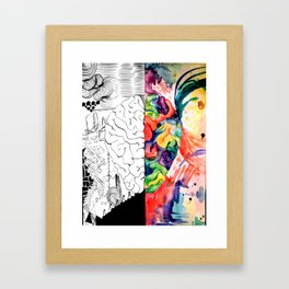 Right Left Brain Framed Art Print