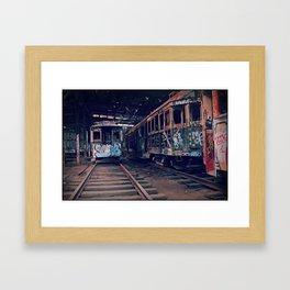 Trams #2 Framed Art Print