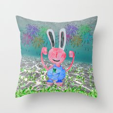 Money Money   Lord Stingy   Kids Painting Throw Pillow