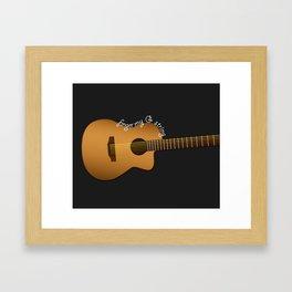 Finger my G string guitar Framed Art Print