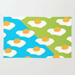Eggsellent (blue + green) Rug