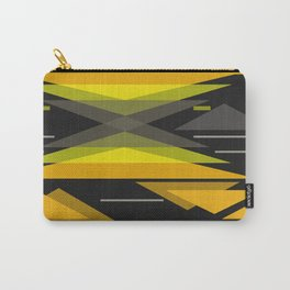 Black and yellow abstract geometric pattern . Carry-All Pouch