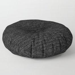 Black Dna Data Code Floor Pillow