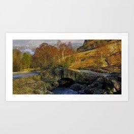 Ashness Bridge  Lake District Art Print