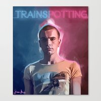 trainspotting Canvas Prints featuring Trainspotting - Renton by KevinART