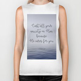 Cast All Your Anxiety on Him Biker Tank