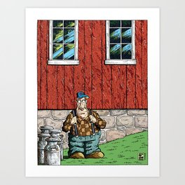 Walter: Portrait With Milk Cans Art Print