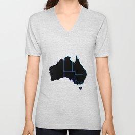 Australia States In Silhouette Unisex V-Neck