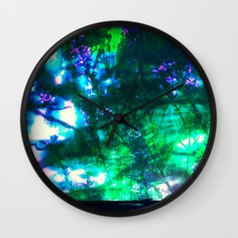 Wildflowers Goth Abstract Wall Clock