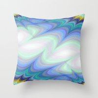 heaven Throw Pillows featuring Heaven by David Zydd - Colorful Mandalas & Abstrac