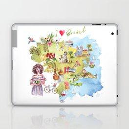 Brasil Map Laptop & iPad Skin