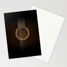 Full Guitar Black Stationery Cards