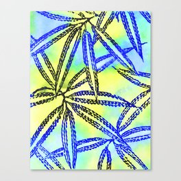 Yellow and Blue Abstract Pattern Canvas Print
