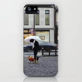 The lady and her dog. iPhone Case