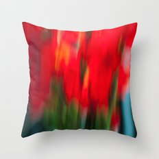 Red Gladiola Throw Pillow