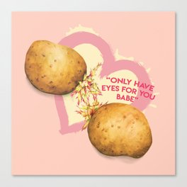 Food Pun - Potato Romance Canvas Print