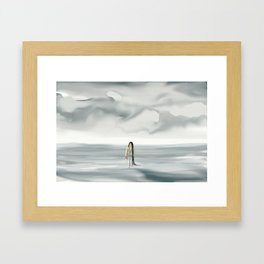 lakes of indifference Framed Art Print