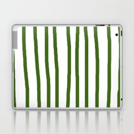 Simply Drawn Vertical Stripes in Jungle Green Laptop & iPad Skin