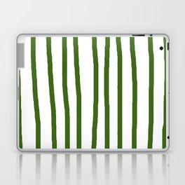 Simply Drawn Vertical Stripes in Jungle Green Laptop & iPad Skin