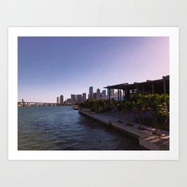 Partial Miami Skyline and Perez Art Museum Art Print