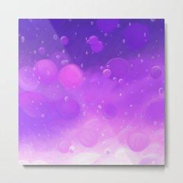 Lava Lamp Purple Metal Print