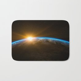 Sunrise on Earth Bath Mat
