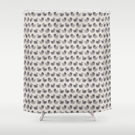 Cute Simple Pigeons Shower Curtain