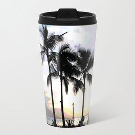 Three Palms in Paradise Travel Mug